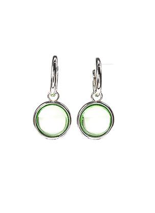 Boucles d'oreilles vert LINE ARGENT pour femme
