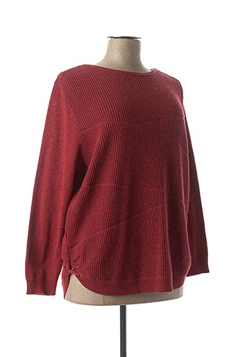 Pull col rond rouge CAPUCCINO pour femme
