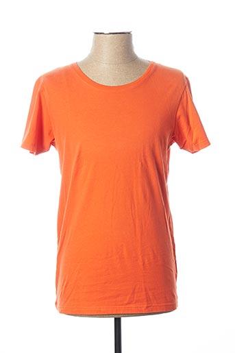 T-shirt manches courtes orange HERO SEVEN pour homme