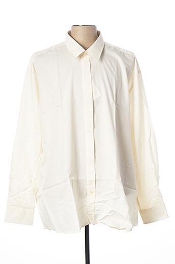 Chemise manches longues beige JEAN CHATEL pour homme