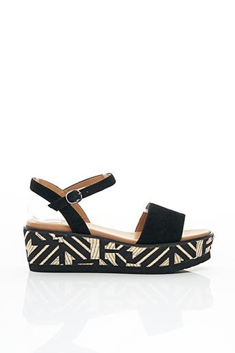 Sandales/Nu pieds noir ADIGE pour femme