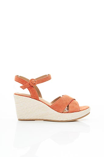 Sandales/Nu pieds orange ADIGE pour femme