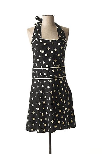 Robe courte noir PRINCESSE NOMADE pour femme