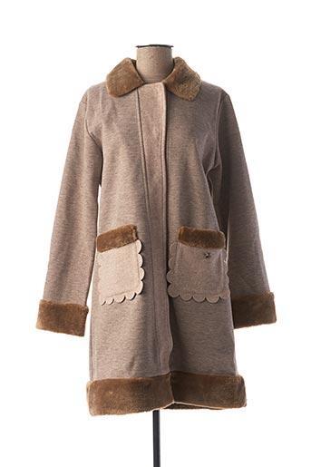Manteau long marron AKINO LAUDE pour femme