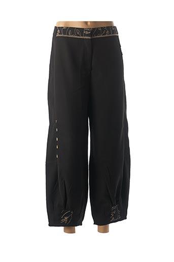 Pantalon casual noir NID D'ABEILLE pour femme