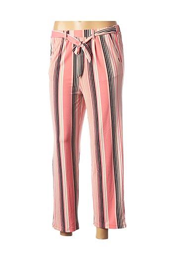 Pantalon 7/8 rose BECKARO pour femme