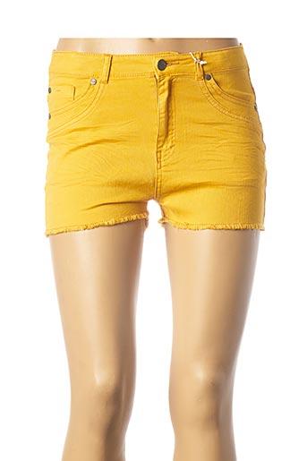 Short jaune CHIPIE pour femme