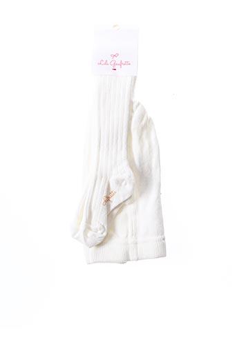 Collants blanc LILI GAUFRETTE pour fille