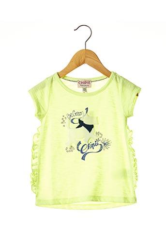 T-shirt manches courtes jaune CHIPIE pour fille