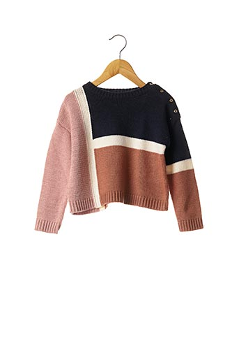 Pull col rond bleu ABSORBA pour fille
