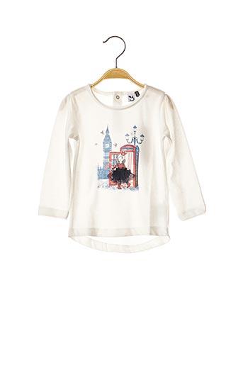 T-shirt manches longues beige 3 POMMES pour fille