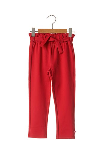 Pantalon chic rouge 3 POMMES pour fille