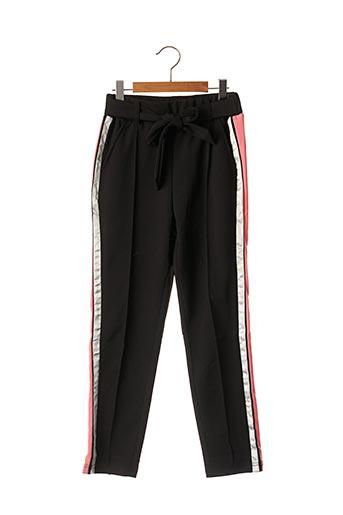 Pantalon casual noir BECKARO pour fille