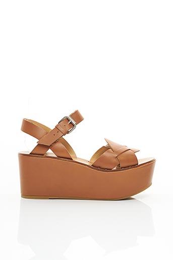 Sandales/Nu pieds marron JANET & JANET pour femme