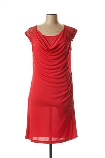 Robe mi-longue rouge EVA KAYAN pour femme