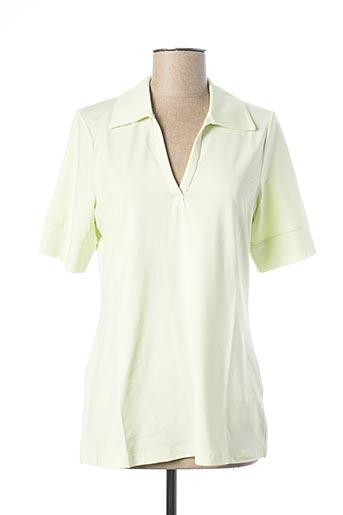 Polo manches longues vert BEST CONNECTIONS pour femme