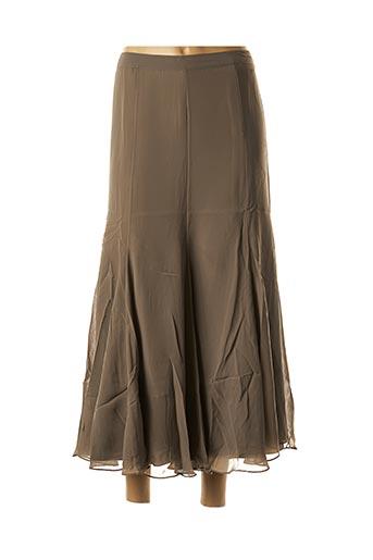 Jupe longue marron ASHLEY BROOKE pour femme