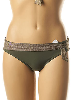 Bas de maillot de bain vert LOU pour femme