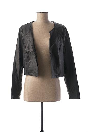 Veste simili cuir noir BATIDA pour femme