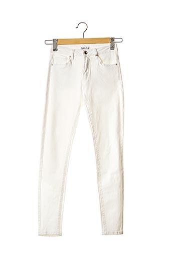 Jeans coupe slim blanc TOXIK3 pour femme