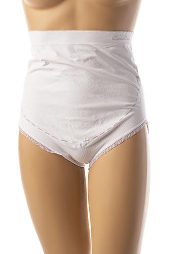 Culotte gainante blanc CACHE COEUR pour femme