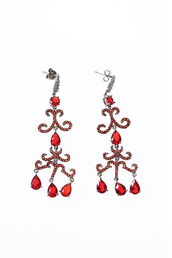 Boucles d'oreilles rouge AMBROSIA PARIS pour femme