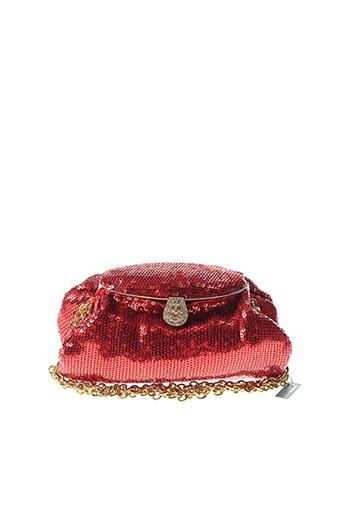Pochette rouge AMBROSIA PARIS pour femme