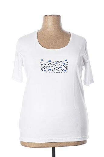 T-shirt manches longues blanc ARMOR LUX pour femme