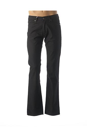 Jeans coupe droite noir BRUNO SAINT HILAIRE pour homme