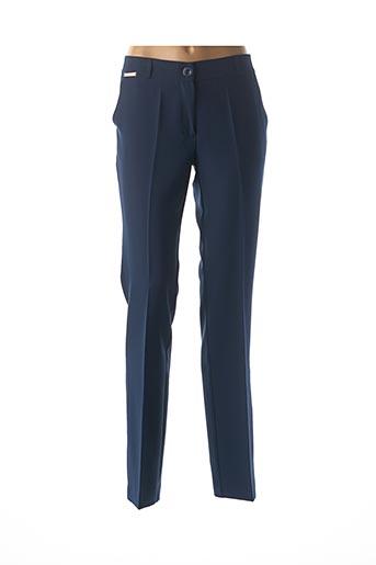 Pantalon casual bleu CRISTINA BARROS pour femme