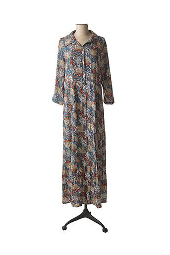 Robe longue bleu PAKO LITTO pour femme