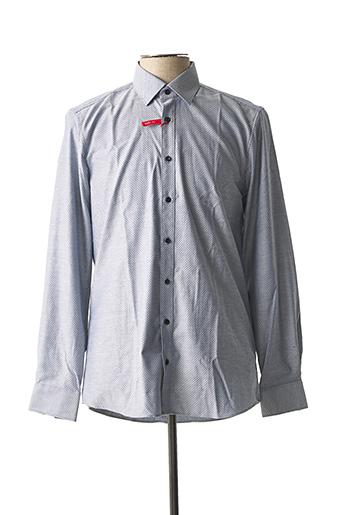 Chemise manches longues gris MARVELIS pour homme