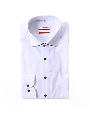 Chemise manches longues blanc MARVELIS pour homme