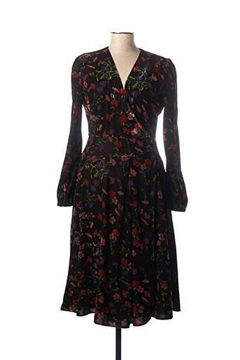 Robe mi-longue noir IDANO pour femme