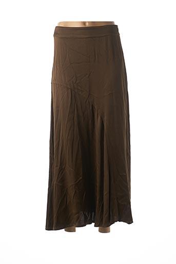 Jupe mi-longue marron ESSENTIEL pour femme