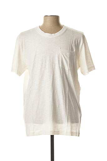 T-shirt manches courtes blanc SELECTED pour homme