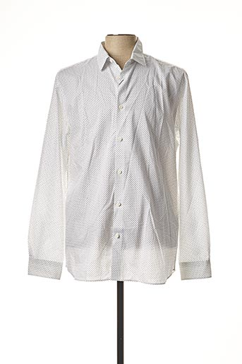 Chemise manches longues blanc SELECTED pour homme