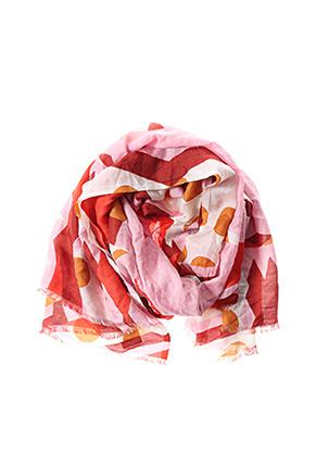 Foulard rose MAPOESIE pour femme