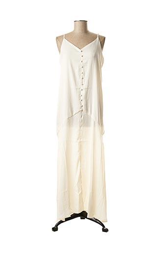 Robe longue beige ELLI WHITE pour femme
