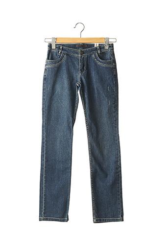 Jeans coupe droite bleu IKKS pour fille