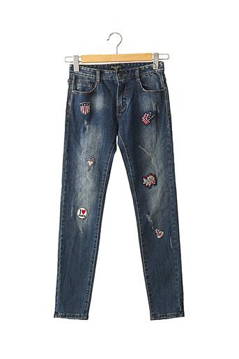 Jeans skinny bleu BOOM KIDS pour fille