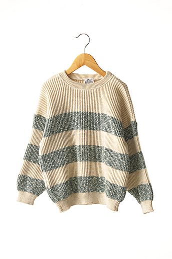 Pull col rond beige COUDEMAIL pour fille
