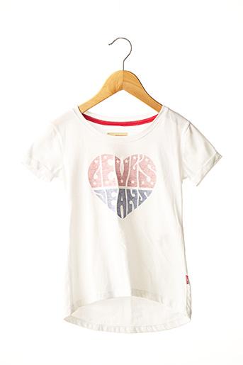 T-shirt manches courtes blanc LEVIS pour fille