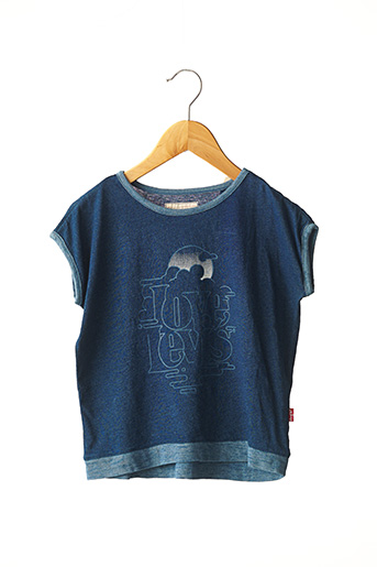 T-shirt manches courtes bleu LEVIS pour fille