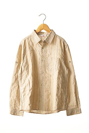 Chemise manches longues beige CATIMINI pour garçon