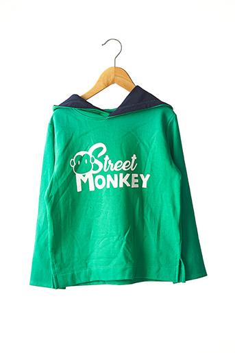Sweat-shirt vert STREET MONKEY pour garçon
