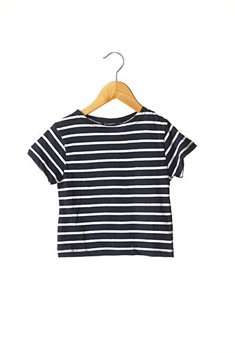 T-shirt manches courtes bleu LES PETITS COEURS À LA MER pour garçon