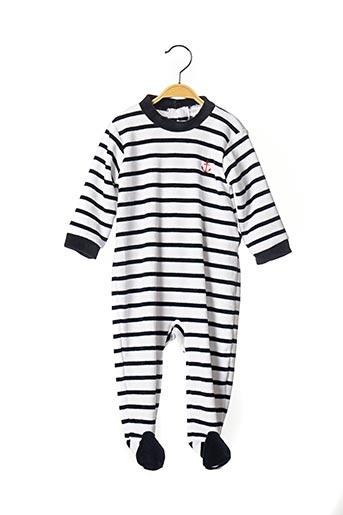 Pyjama blanc LES PETITS COEURS À LA MER pour garçon