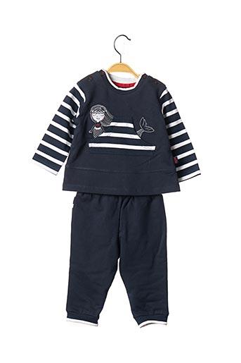 Top/pantalon bleu LES PETITS COEURS À LA MER pour garçon