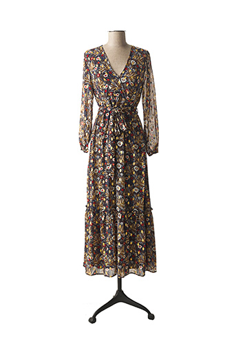 Robe longue bleu LA PETITE ETOILE pour femme
